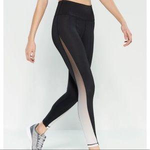 C & C CALIFORNIA Black ombré mesh legging sz m